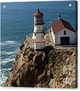 Lighthouse At Point Reyes Acrylic Print