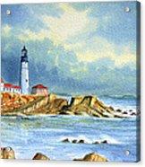 Lighthouse At Portland Head Maine Acrylic Print