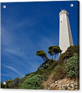 Lighthouse At Saint-jean-cap-ferrat France French Riviera Acrylic Print