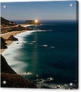 Lighthouse At The Coast, Moonlight Acrylic Print
