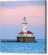 Lighthouse At The Navy Pier Acrylic Print