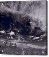 Lighthouse Beach Dunes Bw Acrylic Print