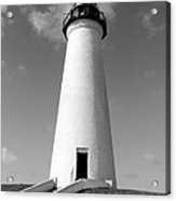Lighthouse Black And White Acrylic Print