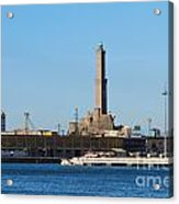 Lighthouse In Genova. Italy Acrylic Print