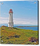 Lighthouse In Louisbourgh-ns Acrylic Print