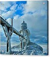 Lighthouse In Saint Joseph Michigan Acrylic Print