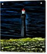 Lighthouse In The Night Acrylic Print