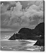 Lighthouse In The Storm Acrylic Print by Andrew Soundarajan