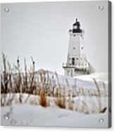Lighthouse In Winter Acrylic Print