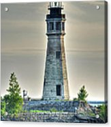 Lighthouse Just Before Sunset At Erie Basin Marina Acrylic Print