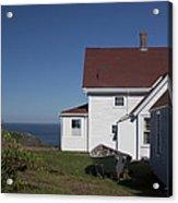 Lighthouse Monhegan Color Acrylic Print