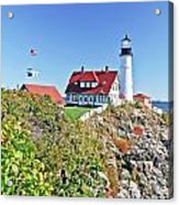 Lighthouse Of Maine Acrylic Print