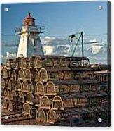 Lighthouse On A Channel By Cascumpec Bay On Prince Edward Island No. 094 Acrylic Print