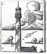 Lighthouse On A Cliff Bookmark Acrylic Print