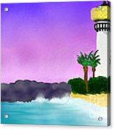 Lighthouse On Beach Acrylic Print