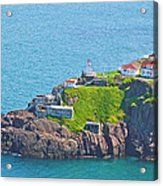 Lighthouse On Point In Signal Hill National Historic Site In Saint John's-nl Acrylic Print