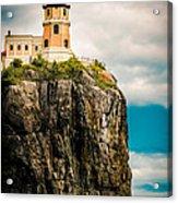 Lighthouse On Split Rock Acrylic Print