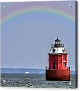 Lighthouse On The Bay Acrylic Print
