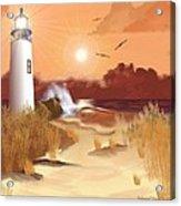 Lighthouse On The Coast Acrylic Print