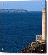Lighthouse On The Coast, Phare Du Petit Acrylic Print