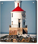 Lighthouse On The Rocks Acrylic Print
