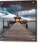 Lighthouse - Outer Banks Nc Manteo Lighthouse Roanoke Marshes Acrylic Print