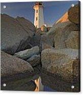 Lighthouse, Peggys Cove, Nova Scotia Acrylic Print