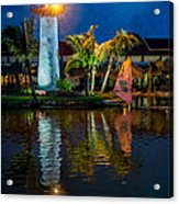 Lighthouse Reflection Acrylic Print by Adrian Evans