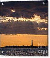 Lighthouse Sun Rays Acrylic Print