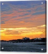 Lighthouse Sunset By Jan Marvin Acrylic Print
