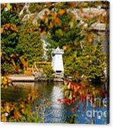 Lighthouse Through The Leaves Acrylic Print