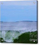 Lighthouse Through Wave Acrylic Print