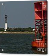 Lighthouse To Buoy Acrylic Print