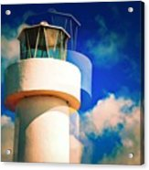 Lighthouse To The Clouds Acrylic Print