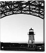 Lighthouse Under Golden Gate Acrylic Print