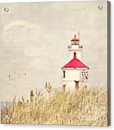 Lighthouse With Red Roof Acrylic Print