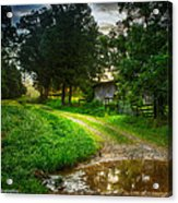 Lighting The Pathway Home Acrylic Print by Paul Herrmann