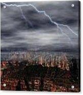 Lightning - North Rim Of Grand Canyon Acrylic Print