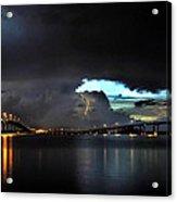 Lightning And The Cerulean Sky Acrylic Print