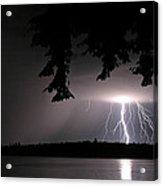 Lightning At Night Acrylic Print
