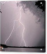 Lightning At The Lake Acrylic Print