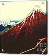 Lightning Below Red Fuji 1826 Acrylic Print