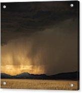 Lightning Bolt Striking Thr Ground Acrylic Print
