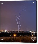 Lightning Composite 1 Acrylic Print by Benjamin Reed