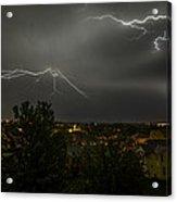 Lightning Crashes Acrylic Print