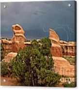 Lightning Devils Garden Escalante Grand Staircase Nm Utah Acrylic Print