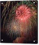 Lightning Fireworks Acrylic Print