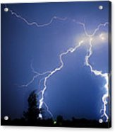 Lightning In Montrose Colorado Acrylic Print