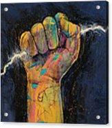 Lightning Acrylic Print by Michael Creese