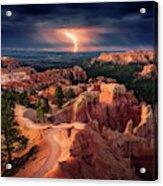 Lightning Over Bryce Canyon Acrylic Print